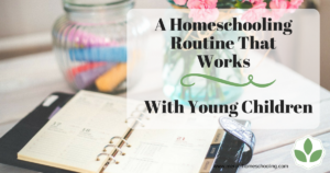 A Homeschooling Routine for Young Children